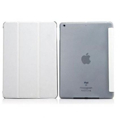 Tipxcase Airslim Collection - кожен кейс и поставка за iPad mini, mini Retina (бял) 2