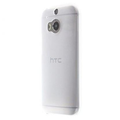 HTC Hard Shell HC C942 - оригинален поликарбонатов кейс за HTC One M8 (прозрачен-мат)