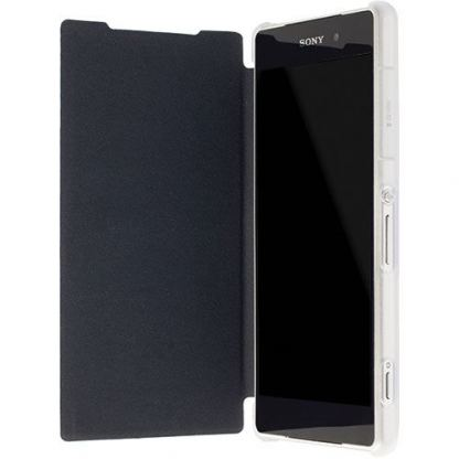 Krusell Boden Flip cover - кожен калъф, тип портфейл за Sony Xperia Z2 (бял) 2