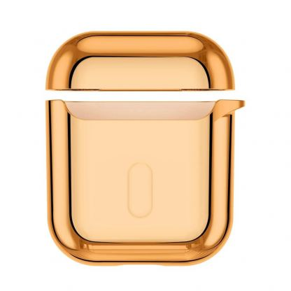 Baseus Shining Hook Silica Gel Case - силиконов калъф за Apple Airpods & Apple Airpods 2 (златист) 5