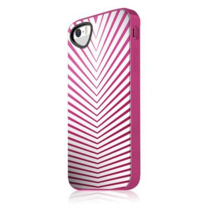 Itskins Killer Chic Chic WHPK Case - термополиуретанов калъф за iPhone 5S, iPhone 5 (бял-розов)