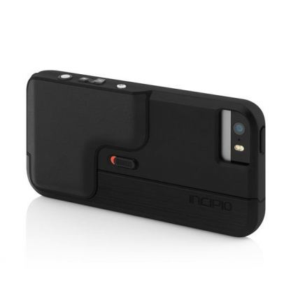 Incipio Focal Camera Case - поликарбонатов кейс с функция снимане за iPhone 5, iPhone 5S (черен)
