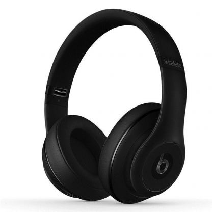 Beats by Dre Studio Wireless - професионални безжични слушалки с микрофон и управление на звука за iPhone, iPod и iPad (черен-мат)