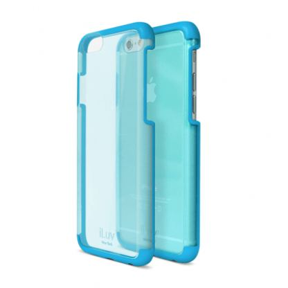 iLuv Vyneer Dual Material case - поликарбонатов кейс за iPhone 6/6S (син)