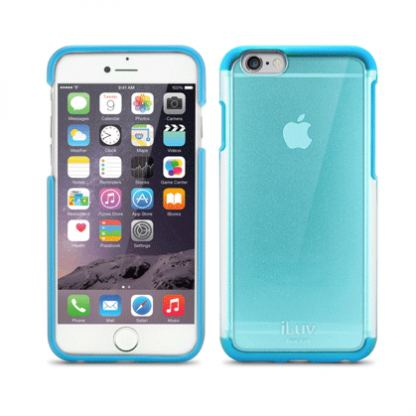iLuv Vyneer Dual Material case - поликарбонатов кейс за iPhone 6/6S (син) 2