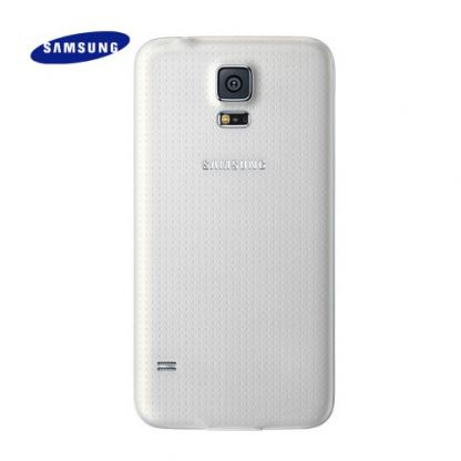 Samsung Battery Cover - оригинален заден капак за Samsung Galaxy S5 SM-G900 (бял)