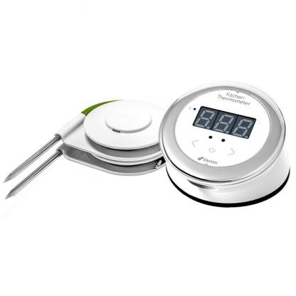 iDevices Kitchen Thermometer Connected - термометър за готвене за iOS и Android (бял-черен)