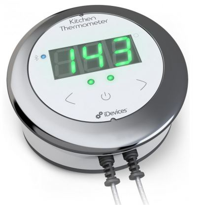 iDevices Kitchen Thermometer Connected - термометър за готвене за iOS и Android (бял-черен) 3