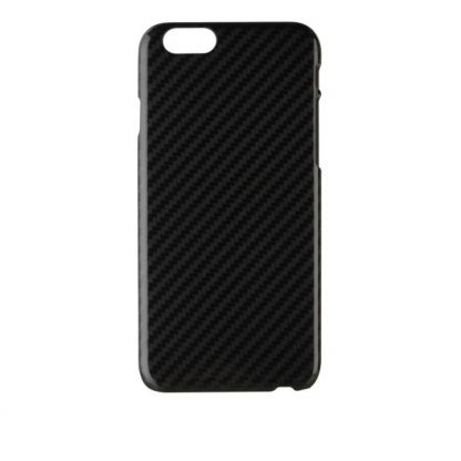 Xqisit iPlate Carbon Case - поликарбонатов кейс за iPhone 6/6S Plus (карбонов) 3