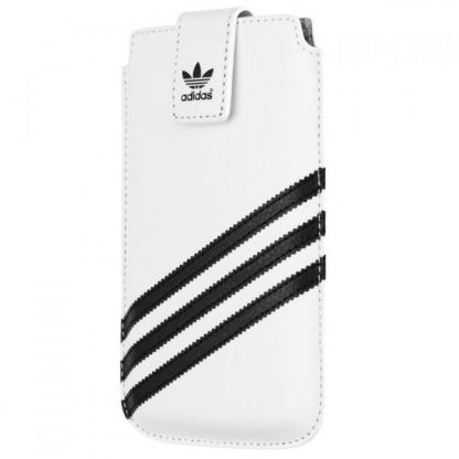 Adidas Originals Universal 3XL - кожен калъф за iPhone 6/6S Plus, Galaxy S5, LG G3, Sony Xperia Z3, HTC One 2 (M8) (бял)