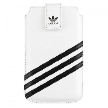 Adidas Originals Universal 3XL - кожен калъф за iPhone 6/6S Plus, Galaxy S5, LG G3, Sony Xperia Z3, HTC One 2 (M8) (бял) 3