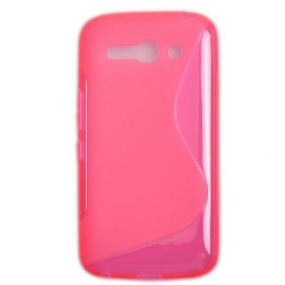 S-Line Cover Case - силиконов (TPU) калъф за Alcatel One Touch Pop C9 OT-7047 (розов)