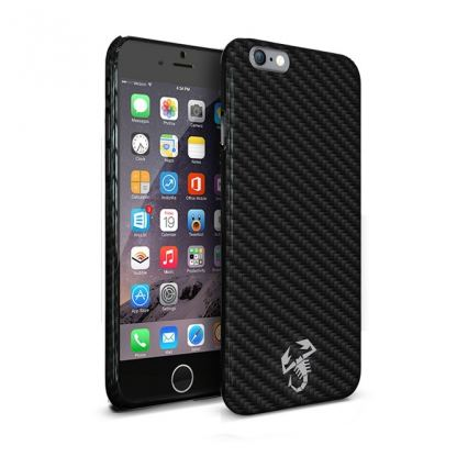 Abarth Scorpion Collection Carbon - дизайнерски карбонов кейс за iPhone 6/6S (карбонов)