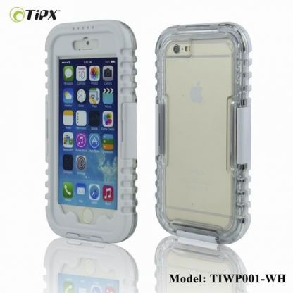 TIPX Waterproof Case - водо-, прахо- и удароустойчив кейс за iPhone 6/6S Plus (бял)