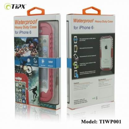 TIPX Waterproof Case - водо-, прахо- и удароустойчив кейс за iPhone 6/6S Plus (бял) 2