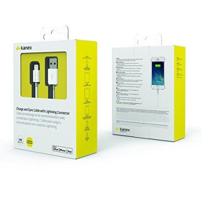 Kanex Lightning to USB Cable 300 cm - кабел за iPhone 6/6S plus, iPad и iPod с Lightning (бял) 3