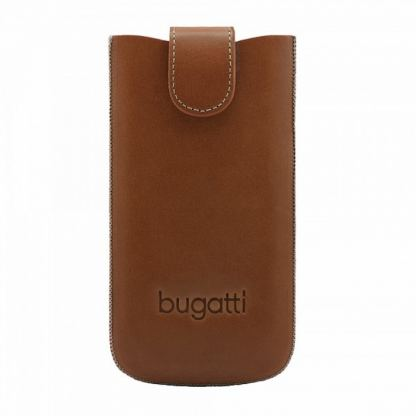 Bugatti SlimCase York XL - кожен калъф (естествена кожа) за Galaxy A3, S3, S4, Blackberry Z10, HTC One и др. (кафяв) 3