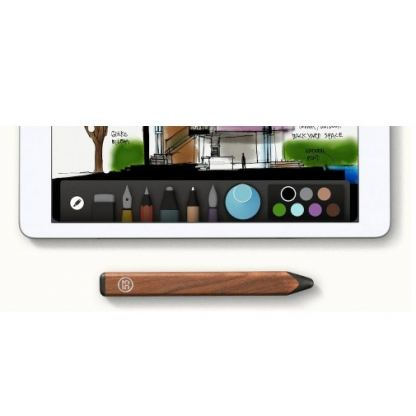 FiftyThree Pencil bluetooth Walnut stylus - иновативна писалка за iPad (кафяв) 3