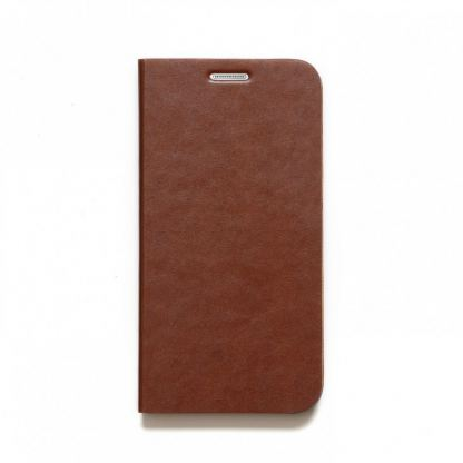 Zenus Original AVOC Toscana Diary Leather Case - кожен калъф тип портфейл за Samsung Galaxy S6 (кафяв) 2