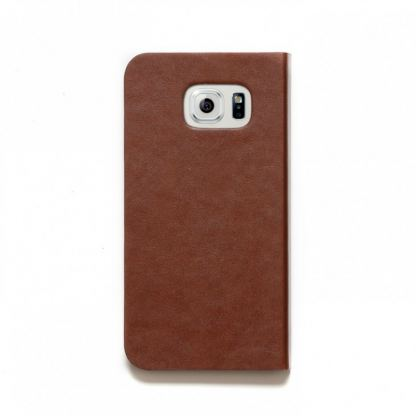 Zenus Original AVOC Toscana Diary Leather Case - кожен калъф тип портфейл за Samsung Galaxy S6 (кафяв) 3