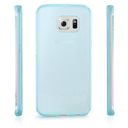 Ultra-Slim Case - тънък силиконов (TPU) калъф (0.3 mm) за Samsung Galaxy S6 Edge (син) 2