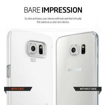 Spigen Thin Fit Case - качествен кейс за Samsung Galaxy S6 (бял) 2