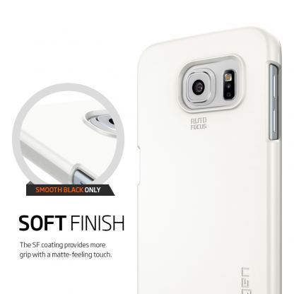 Spigen Thin Fit Case - качествен кейс за Samsung Galaxy S6 (бял) 3