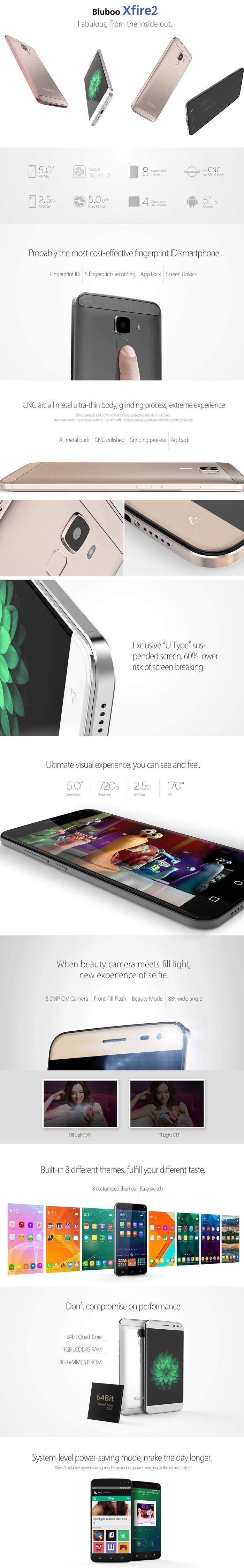 Bluboo Xfire2, две сим карти, смартфон спецификация